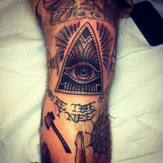 justin bieber cat tattoo